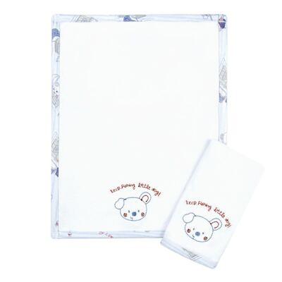Imagem 1 do produto Kit com 2 fraldinhas de boca em malha Sailing Dog - Classic for Baby