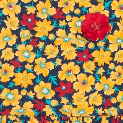 Imagem 2 do produto Vestido para bebê Floral Marinho - Livy