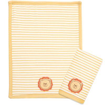 Imagem 1 do produto Kit com 2 fraldas de boca atoalhadas Safari Lion - Classic for Baby