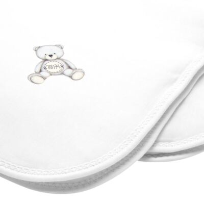 Imagem 2 do produto Manta acolchoada em Pima Cotton Supreme Prime Bear Branco - Mini & Kids