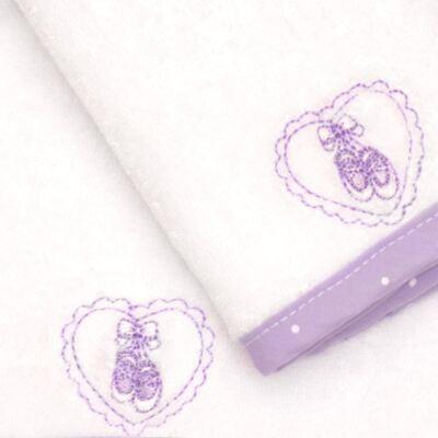 Imagem 2 do produto Kit com 2 fraldas de boca atoalhadas Ballet - Classic for Baby