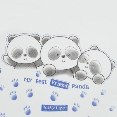 Imagem 2 do produto Manta em suedine Urso Panda - Vicky Lipe