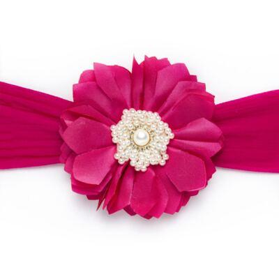 Imagem 1 do produto Faixa meia Maxi Flor Strass & Pérolas Pink - Roana