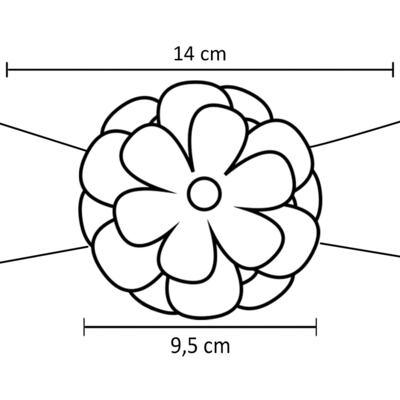 Imagem 2 do produto Faixa meia Maxi Flor Strass & Pérolas Pink - Roana