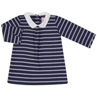 Imagem 1 do produto Vestido c/ golinha em tricoline College - Missfloor - 12CG0001.365 VESTIDO COM GOLA TRICOLINE MARINHO-4