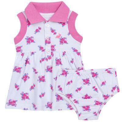 Imagem 1 do produto Vestido Polo com Calcinha para bebe em piquet Mimme - Missfloor - 18BC0001.505 BATA POLO REGATA C/ CALCINHA - PIQUET-1