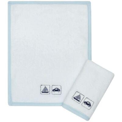 Imagem 1 do produto Kit com 2 fraldas de boca atoalhadas Transportes - Classic for Baby