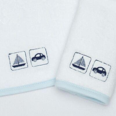 Imagem 2 do produto Kit com 2 fraldas de boca atoalhadas Transportes - Classic for Baby