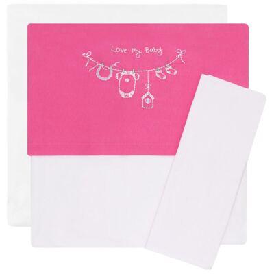 Imagem 1 do produto Jogo de lençol para carrinho em malha Clothes Girl - Classic for Baby