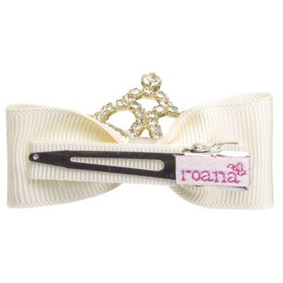 Imagem 3 do produto Presilha laço Coroa & Strass Marfim - Roana