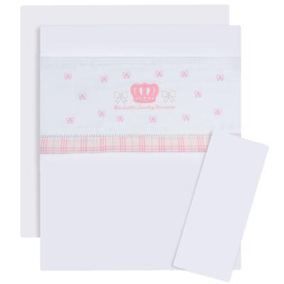 Imagem 1 do produto Jogo de lençol para carrinho em malha Lovely Princess - Classic for Baby