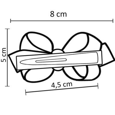 Imagem 3 do produto Presilha Laço duplo Vermelho Poá - Roana