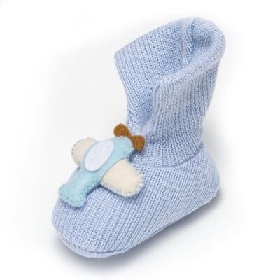 Imagem 3 do produto Sapatinho em tricot Aviãozinho Azul - Roana