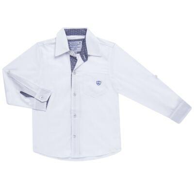 Imagem 1 do produto Camisa manga longa para bebe em tricoline Branca - Sylvaz - SZ627 CAMISA INFANTIL ML BRANCO-1