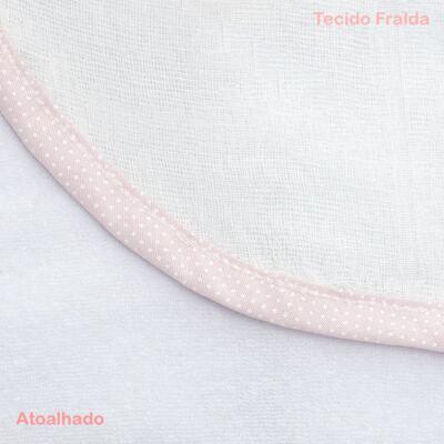 Imagem 3 do produto Toalha com capuz Lacinhos - Classic for Baby