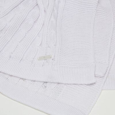 Imagem 3 do produto Manta para bebe em tricot Branca - Baby Classic
