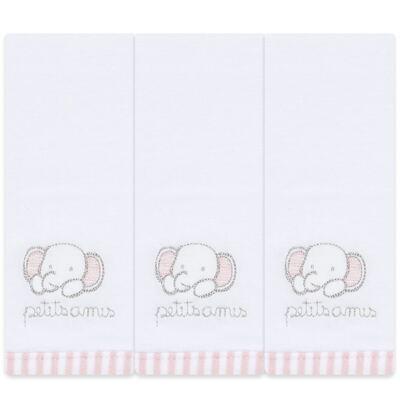 Imagem 1 do produto Kit com 3 fraldinhas de boca em malha  Elefantinha - Classic for Baby