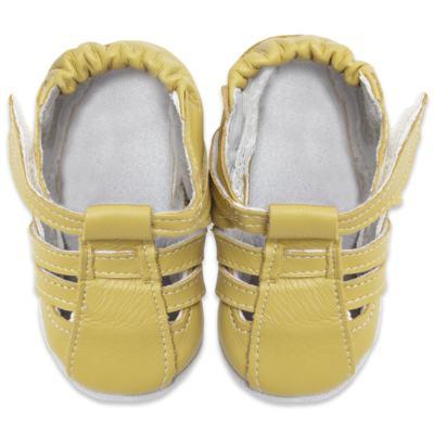 Imagem 2 do produto Sandália para bebe c/ velcro em couro Eco Amarelo - Babo Uabu - BABO39 Sandalia Tiras Amarela-0-6 meses