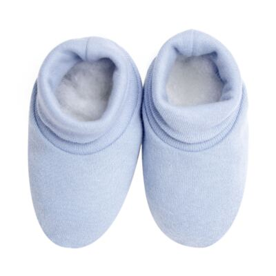 Imagem 4 do produto Kit c/ Touca, Luva e Sapatinho em suedine Baby Protect Azul - Mini & Kids