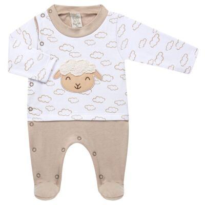 Imagem 2 do produto Jogo Maternidade com Macacão e Manta para bebe em malha Ovelhinha - Pingo Lelê - PL65721 KIT PRESENTE MACACAO E MANTA OVELINHA-P