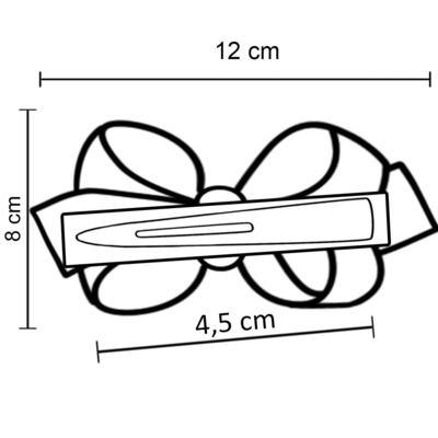 Imagem 3 do produto Presilha Maxi Laço em gorgurão Pérolas Bege - Roana