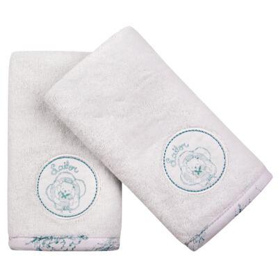Imagem 1 do produto Kit com 2 fraldas de boca atoalhadas Urso Provence - Classic for Baby