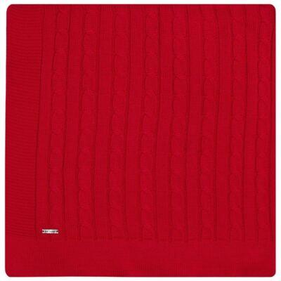 Imagem 1 do produto Manta em tricot Vermelha - Baby Classic