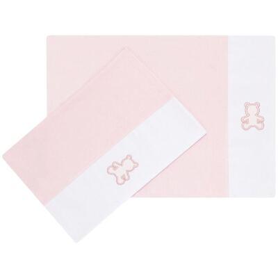 Imagem 1 do produto Kit 2 Fronhas em malha Rosa - Classic for Baby