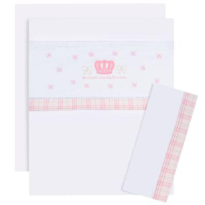 Imagem 1 do produto Jogo de lençol para berço em malha Lovely Princess - Classic for Baby