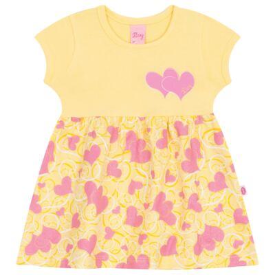 Imagem 1 do produto Vestido para bebê Cute Hearts Amarelo - Livy - LV4901.AM VESTIDO HEART COTTON AMARELO-M