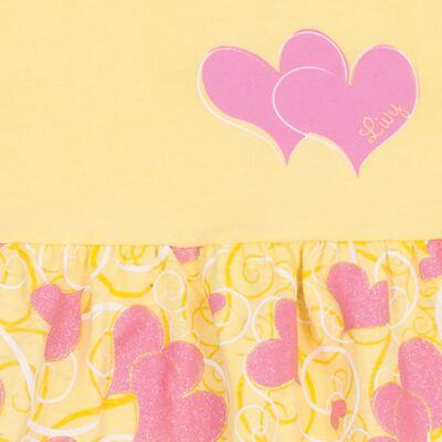 Imagem 2 do produto Vestido para bebê Cute Hearts Amarelo - Livy - LV4901.AM VESTIDO HEART COTTON AMARELO-M