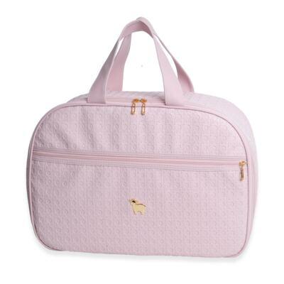 Imagem 2 do produto Mala maternidade para bebe + Bolsa maternidade + Frasqueira térmica Tressê Rosa - Majov