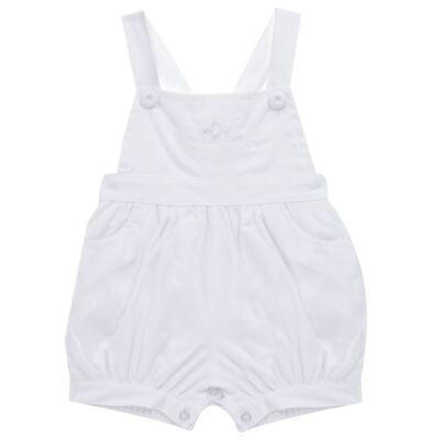Imagem 4 do produto Jardineira c/ Camisa para bebe em tricoline Branca - Sylvaz - SZ411 Conjunto curto Batizado Branco-M