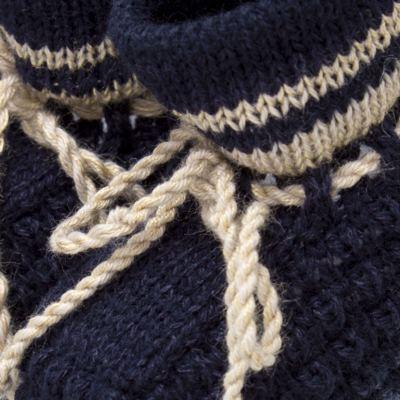 Imagem 2 do produto Botinha em tricot Marinho/Bege - Roana
