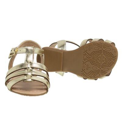 Imagem 2 do produto Sandália em couro Dourada - Lupie - LP12.14 IPANEMA DOURADO-19