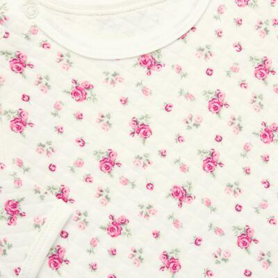 Imagem 3 do produto Kit 2 Bodies longos para bebe em suedine Marfim Florale - Grow Up - 09100097.0004 KIT BODIES FLOWERS ML CREME-RN