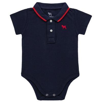 Imagem 1 do produto Body Polo para bebe em piquet Marinho - Charpey - CY21150.552 BODY POLO MASC PIQUE MC NOITE-GG