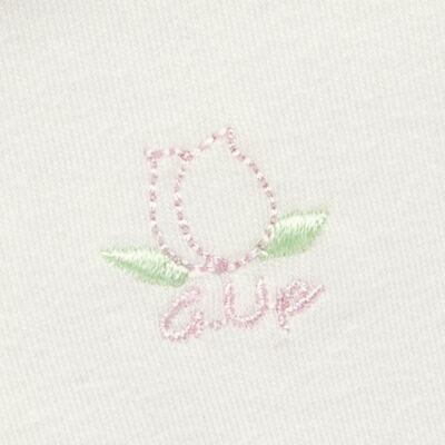Imagem 5 do produto Kit 2 Bodies longos para bebe em suedine Marfim Florale - Grow Up - 09100097.0004 KIT BODIES FLOWERS ML CREME-P