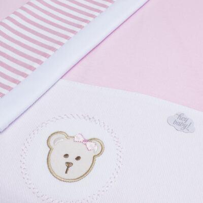 Imagem 2 do produto Colchão para carrinho em malha Pink Teddy Bear - Hey Baby