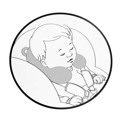 Imagem 2 do produto Descanso de pescoço para bebe atoalhado Woodland - Petit