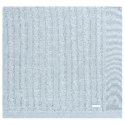 Imagem 1 do produto Manta em tricot Azul - Baby Classic