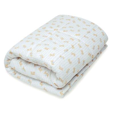 Imagem 1 do produto Edredom para berço em algodão egípcio c/ jato de cerâmica e filtro solar fps 50 Maternity Blue Bear - Classic for Baby