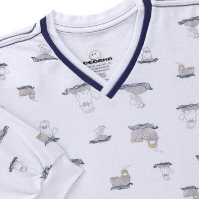 Imagem 3 do produto Pijama longo em moletinho Wally - Dedeka - DDK16638/E112 Pijama Moletinho Morsa-3