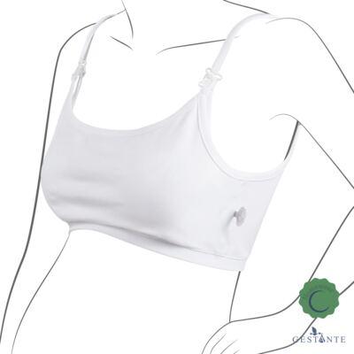 Imagem 1 do produto Top Amamentação em cotton Branco - Cia da Noite