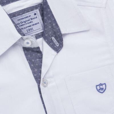 Imagem 2 do produto Camisa manga longa para bebe em tricoline Branca - Sylvaz - SZ627 CAMISA INFANTIL ML BRANCO-3