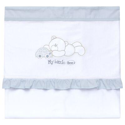 Imagem 1 do produto Manta para bebe babadinhos em suedine Cute Little Bear - Vicky Lipe