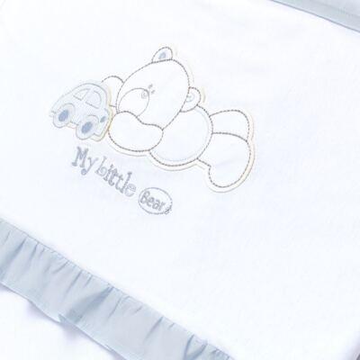 Imagem 2 do produto Manta para bebe babadinhos em suedine Cute Little Bear - Vicky Lipe