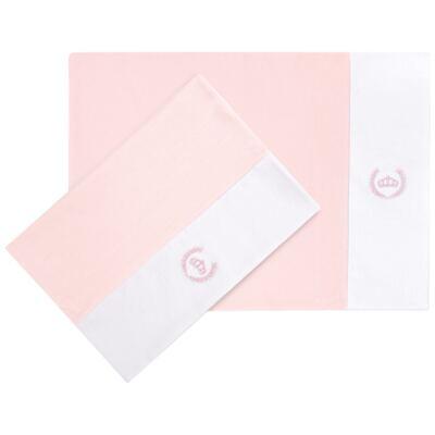 Imagem 1 do produto Kit 2 Fronhas em malha Coroinha Rosa - Classic for Baby
