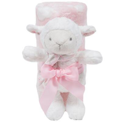 Imagem 1 do produto Ovelhinha com Mantinha em soft Nuvens Rosa (3m+) - Buba