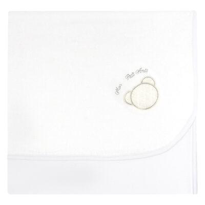 Imagem 1 do produto Manta para bebe em unifloc Honey Bear Blanc - Baby Classic